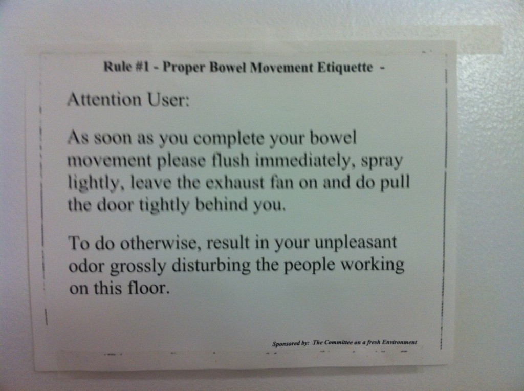 Miss Manners In The Workplace Bathroom Moxywoxy